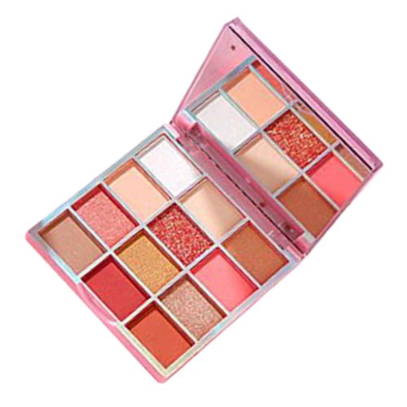 自動的に代名詞現れる防水 アイシャドウ 12色 美容 メイクパレット マット パール アイシャドウパウダー 多機能 全2種類 - ピンク