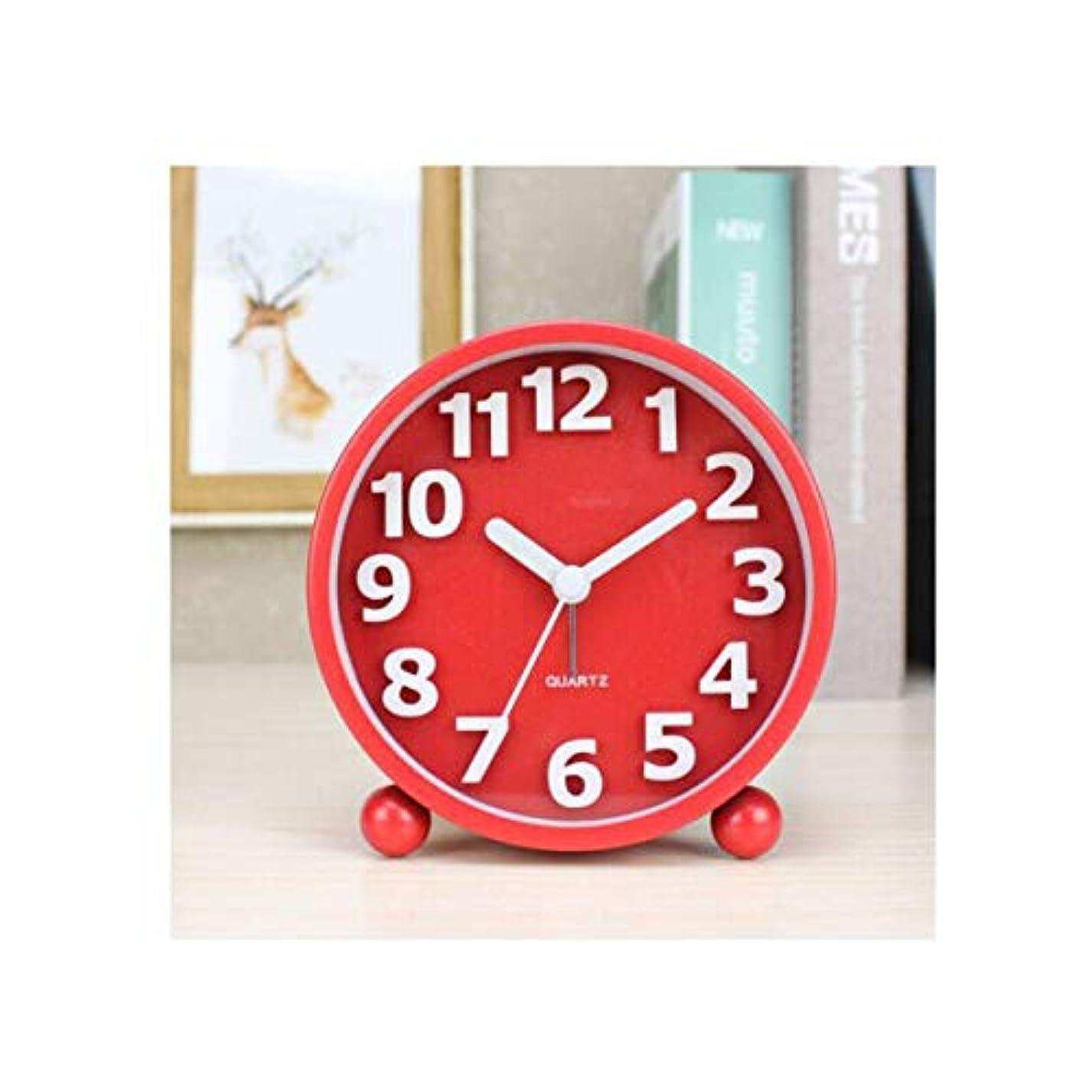 剥離打撃賛美歌Kaiyitong001 目覚まし時計、シンプルでモダンなデジタル目覚まし時計、学生クリエイティブベッドサイド時計、電子アラームレッドミュート (Color : Red)