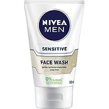 NIVEA MEN Sensitive Face Wash Gel, 100ml