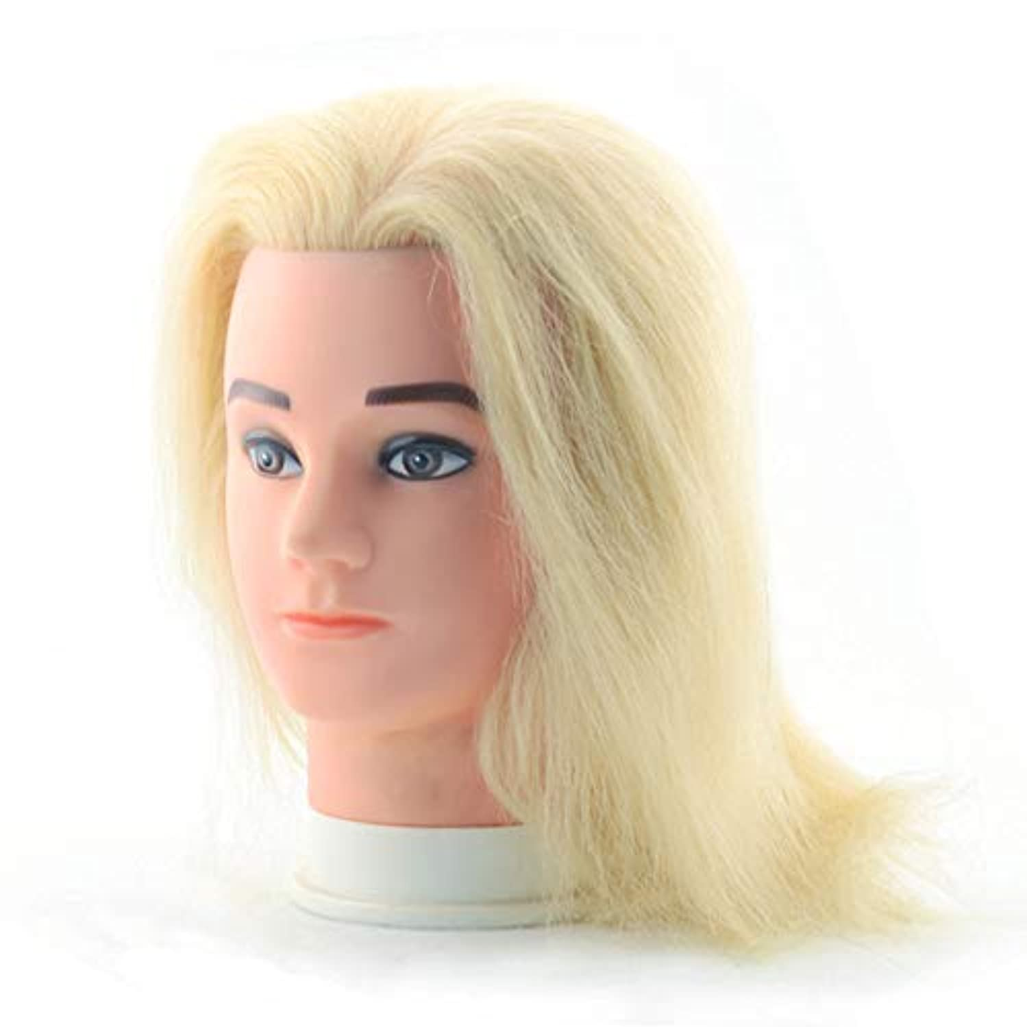 平手打ちキャリッジ観光に行く理髪店の男性の化粧本物の人の毛のダミーの頭の編集ヘアプラクティスモデルの頭を染色することができます頭金
