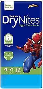Huggies DryNites Pyjama Pants, Boys, Size 4-7 Years, 10 Pack