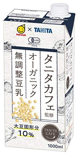 タニタカフェ監修 オーガニック 無調整豆乳 紙パック 1L ×6本