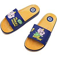 Shower Slippers, Anti- Slip Bathroom Slippers for Toddler Girls Boys Suitable for Bathroom,Sole PVC Material,Blue,34/35