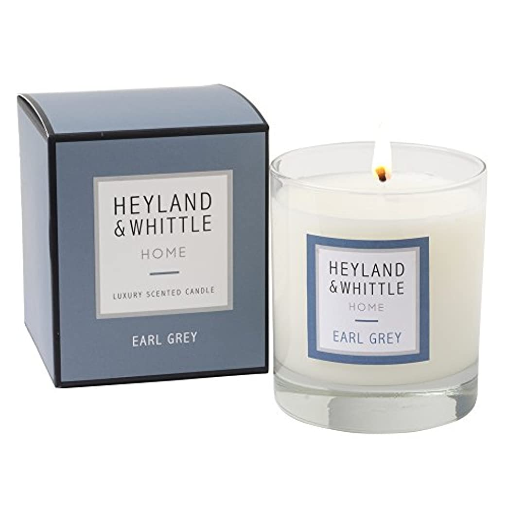 愛撫トランクライブラリ優勢Heyland & Whittle ' HOME '範囲Earl Grey香りつきSoy Candle in aガラスby Heyland & Whittle