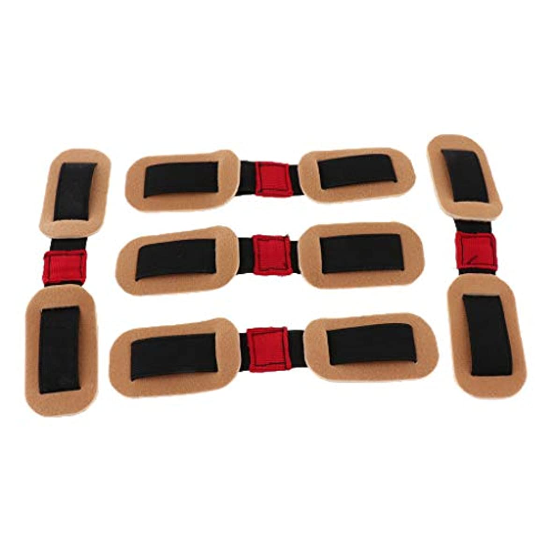 シリーズ縞模様の参加するCUTICATE 外反母趾サポーター バンド ストラップ 親指矯正 トレーニング 柔軟 再利用可能 男女兼用 5個入