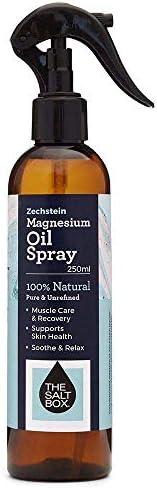 The Salt Box Magnesium Oil 250ml Spray Unrefined Pure Magnesium Supplement Zechstein