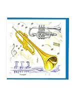 Little Snoring Gifts: Notelets Pack Of Five – Trumpet Design. For トランペット