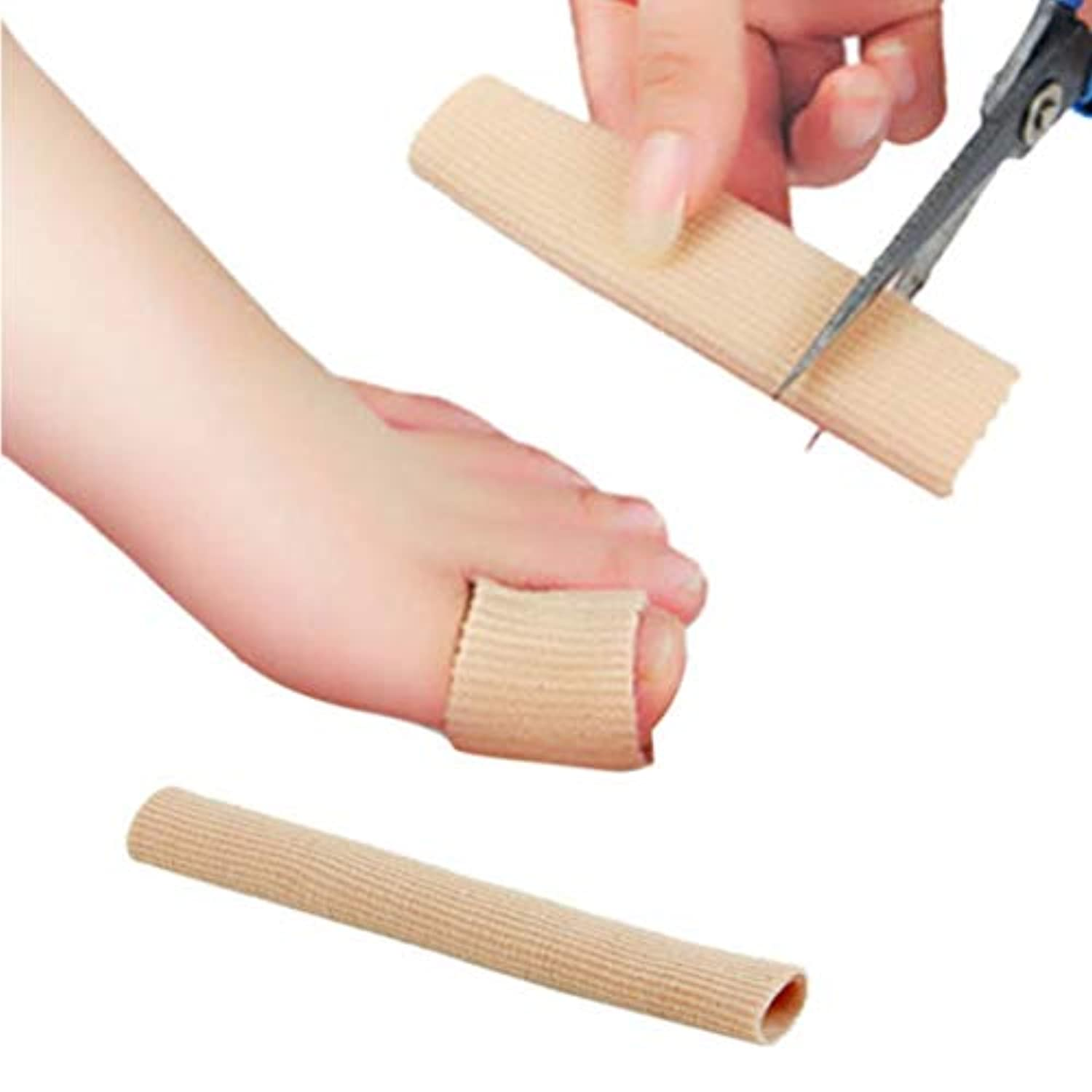 Fabric Gel Tube Bandage Finger & Toe Protective Foot Feet Pain Relief 15CM Feet Guard for Feet Care insoles