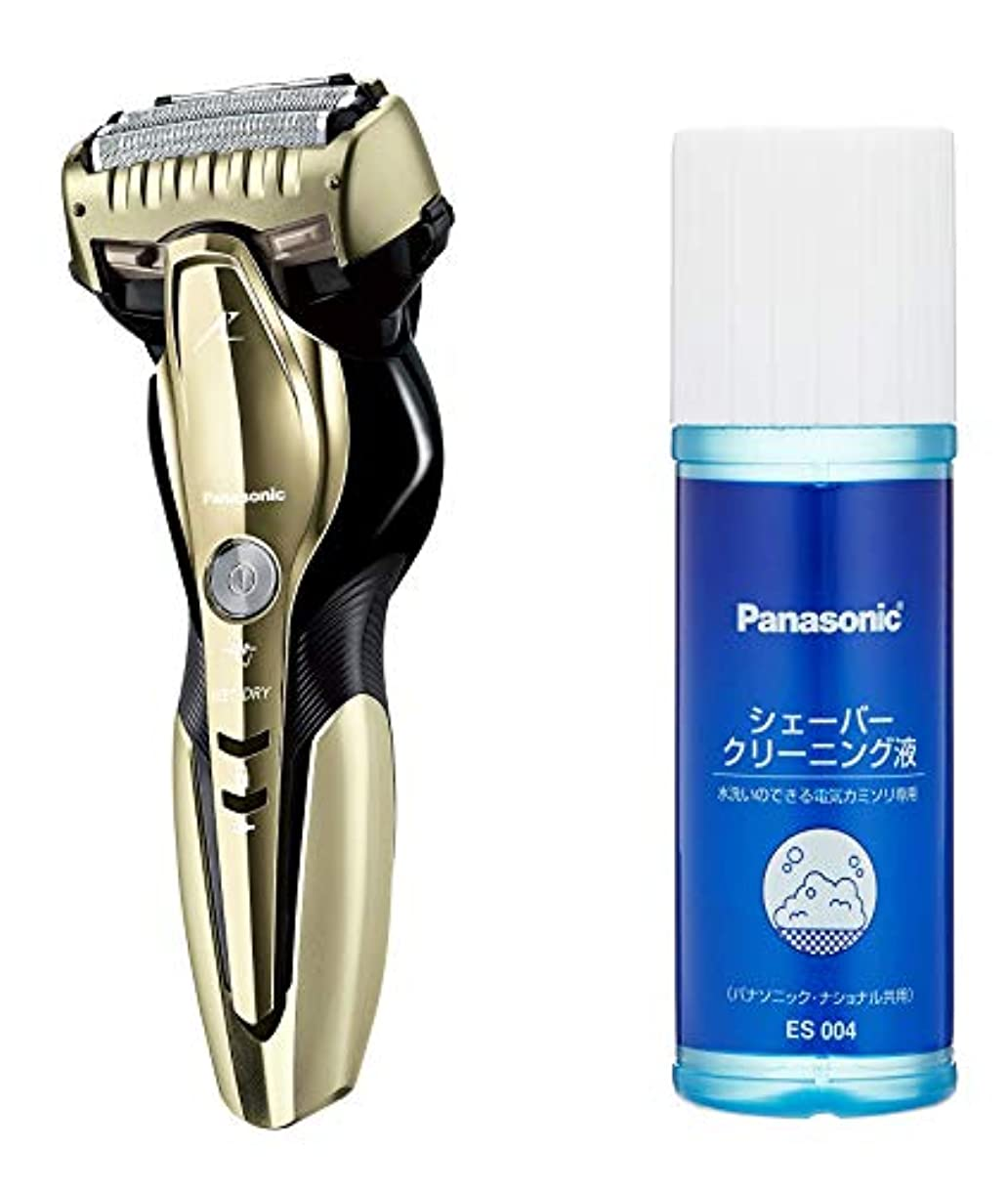 喜劇証言郵便屋さんパナソニック ラムダッシュ メンズシェーバー 3枚刃 お風呂剃り可 ゴールド調 ES-ST8Q-N + シェーバークリーニング液 セット
