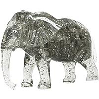 Dingji 3d DIYクリスタルパズルCute ElephantモデルガジェットブロックBuilding Toy 18 * 13.5 * 6cm グレイ 669157348023