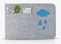 "FidgetGear 11""12""13""13.3""15"" Felt Laptop Sleeve Pouch Ultrabook Bag Carry Case For Macbook Blue 15.4"" Pro"