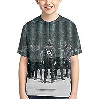 夏かわいい男の子半袖Tシャツ 音楽アランウォーカーAlan Walker フルプリント、両面印刷、毎日の旅行、学校、買い物、買い物、スポーツ、旅行、パーティー