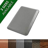 casa pura Anti Fatigue Mat, 20x30 (1'6 x 2'5) - 3/4 Thick - Standing Comfort Mat for Kitchens, Salons, Standing Desks etc. - Grey, Rhino by casa pura