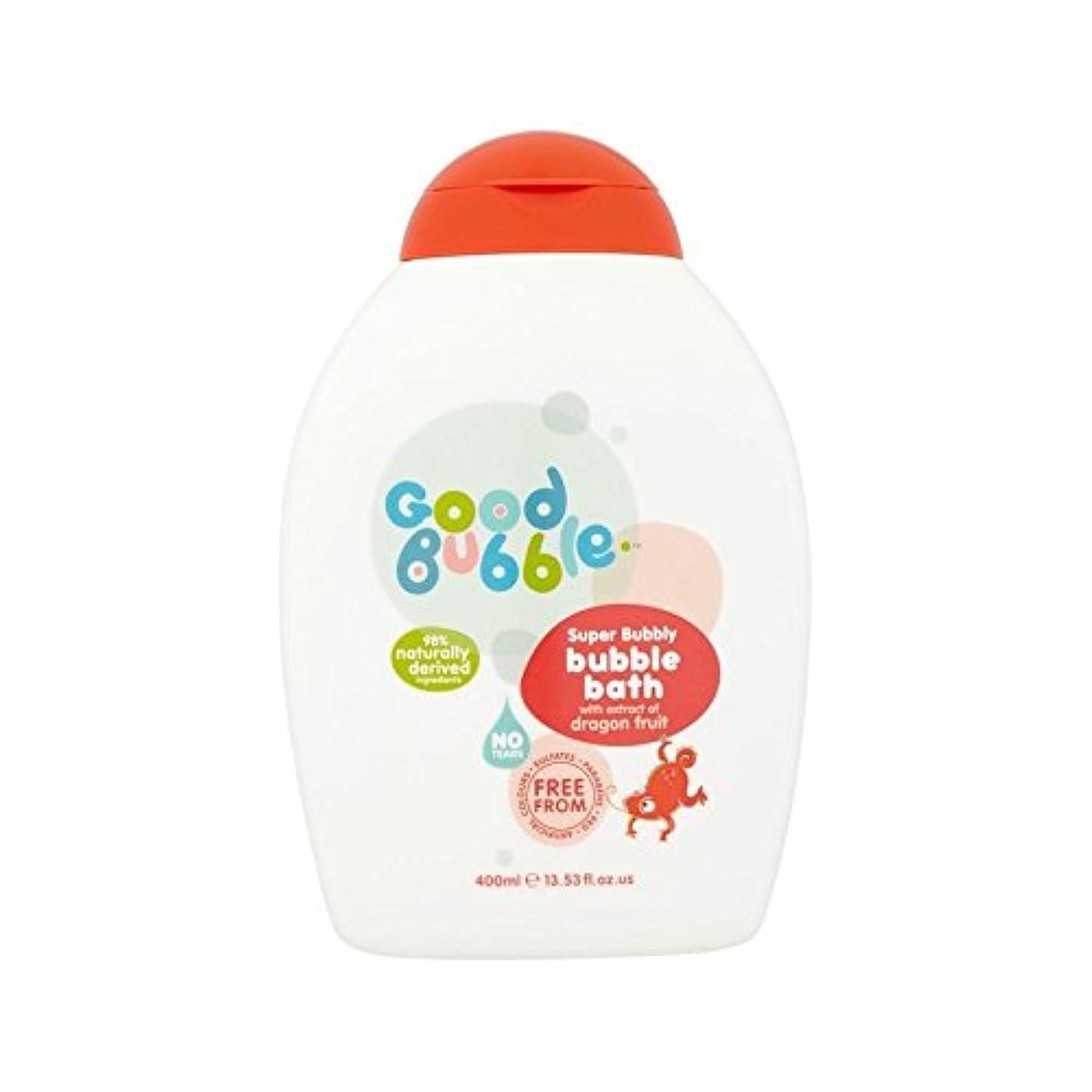 肯定的二十まばたきドラゴンフルーツエキスの400ミリリットルと泡風呂 (Good Bubble) (x 4) - Good Bubble Bubble Bath with Dragon Fruit Extract 400ml (Pack...