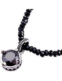 [ロイヤル スタッグ ゼスト] Royal stag zest シルバー ネックレス ブラックキュービック ブラックスピネル sn25-018