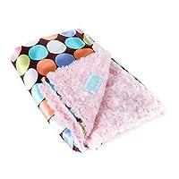 Allyzabba Choco-dot Candy Small Baby Blanket 16x14 by AllyZabba