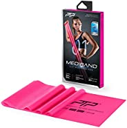 PTP MediBand Resistance/Pilates Band with Exercise Poster, Pink, Ultra Light