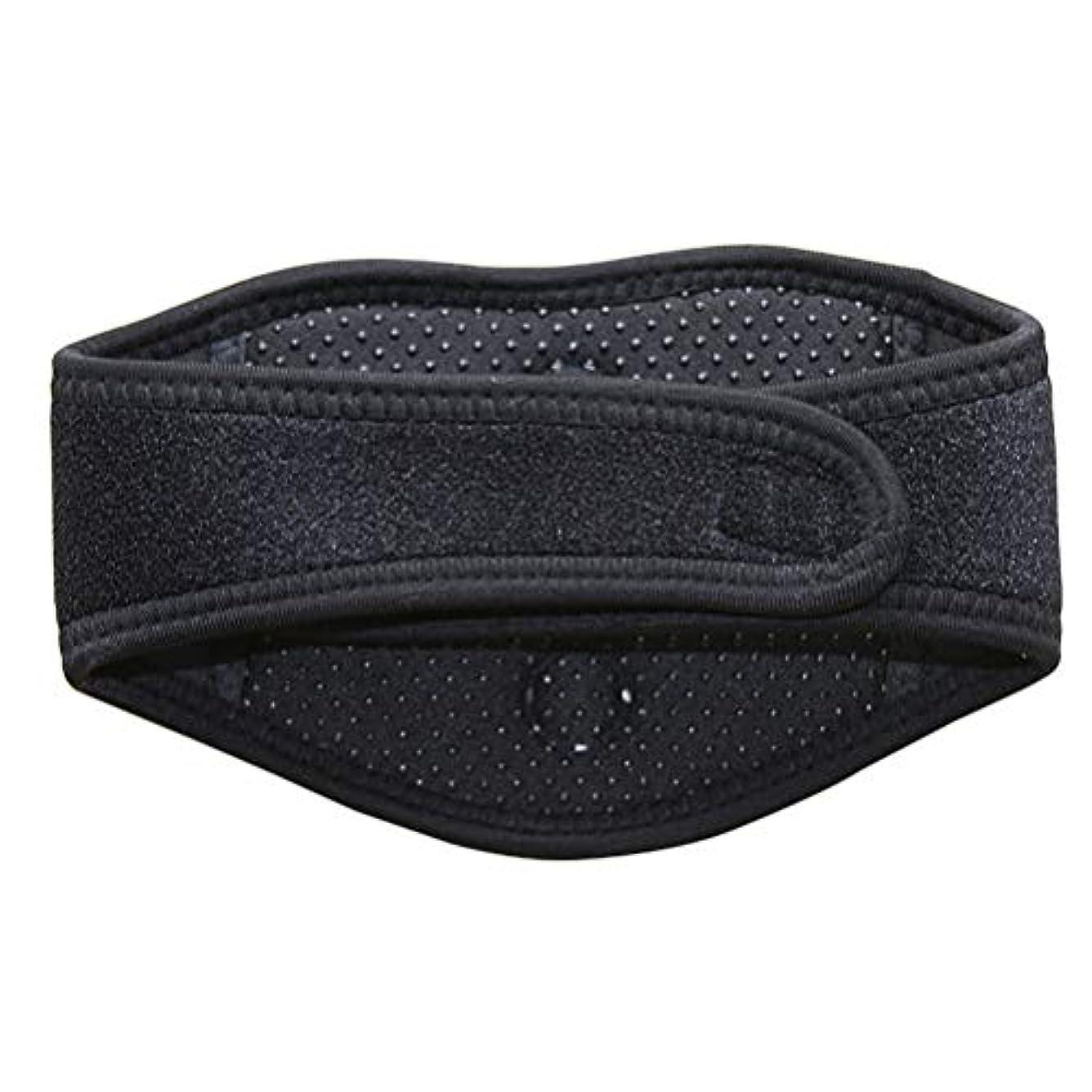 仲人甲虫タンカーSUPVOX磁気治療ネックブレース暖房首マッサージャー首の痛みとサポートのため(黒)