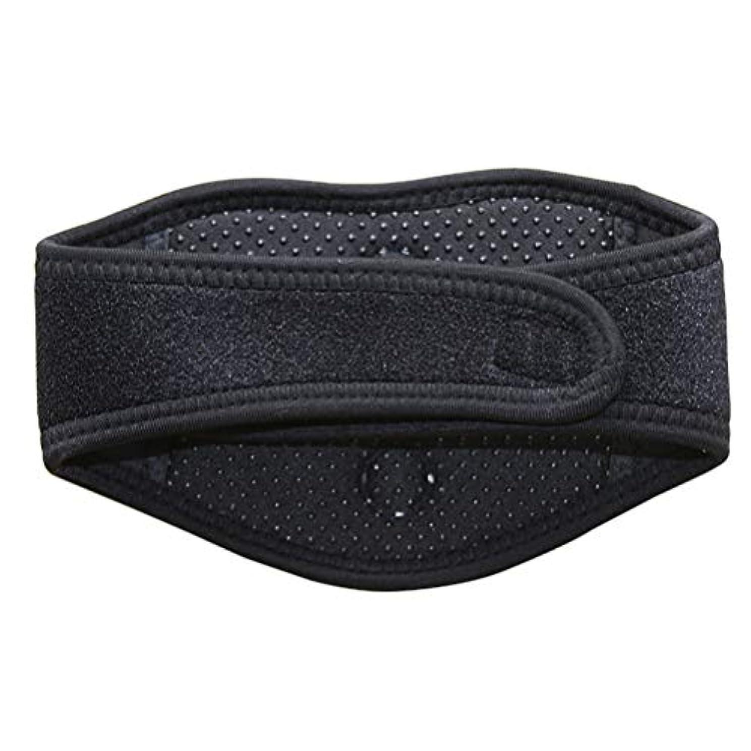 冷える符号振り向くSUPVOX磁気治療ネックブレース暖房首マッサージャー首の痛みとサポートのため(黒)