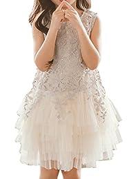 Snoneワンピース キッズ 女の子 ドレス プレゼント キッズドレス 子供服 レース かわいい 女の子 女児 ノースリーブ フォーマルワンピース 結婚式 誕生日 パーティー ピアノ発表会
