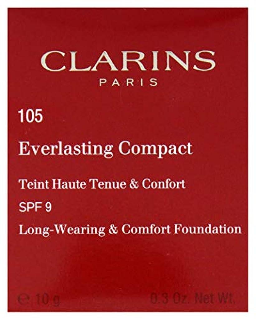 卒業ライトニング免疫するクラランス エヴァーラスティングコンパクトファンデーション SPF9# 105 Nude