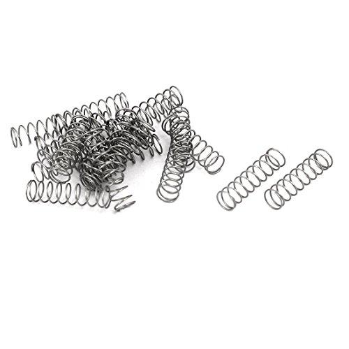 uxcell コンプレッションバネ 圧縮スプリング 圧縮ばね ワイヤーバネ 0.3mmx4mmx15mm シルバートーン 20個入り