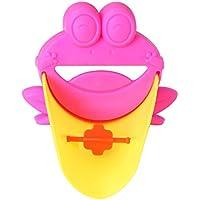 Pinfect ウォーターガイド 手洗い補助パーツ 子ども用 可愛い カエル型 便利グッズ 蛇口 エクステンダー 踏み台 手洗いグッズ 洗面所パーツ(ローズレッド)