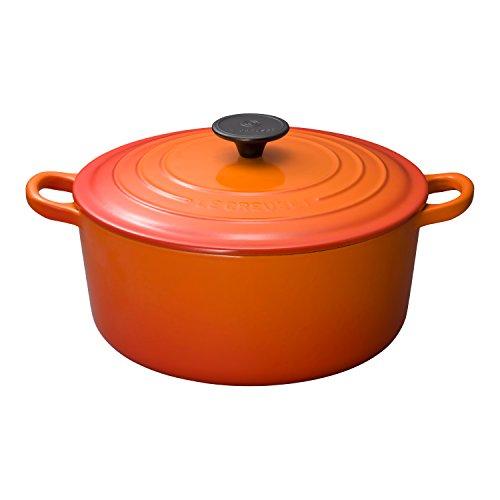 ルクルーゼ ココット ロンド ホーロー 鍋 IH 対応 24cm オレンジ 2501-24-09