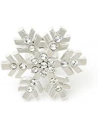 ジェムプラス(GEM plus)ラペルピン 雪の結晶 ピンブローチ KS39011
