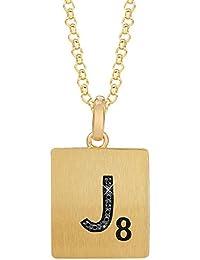 ゴールドメッキスターリングシルバー。02 Ctwブラックダイヤモンド文字