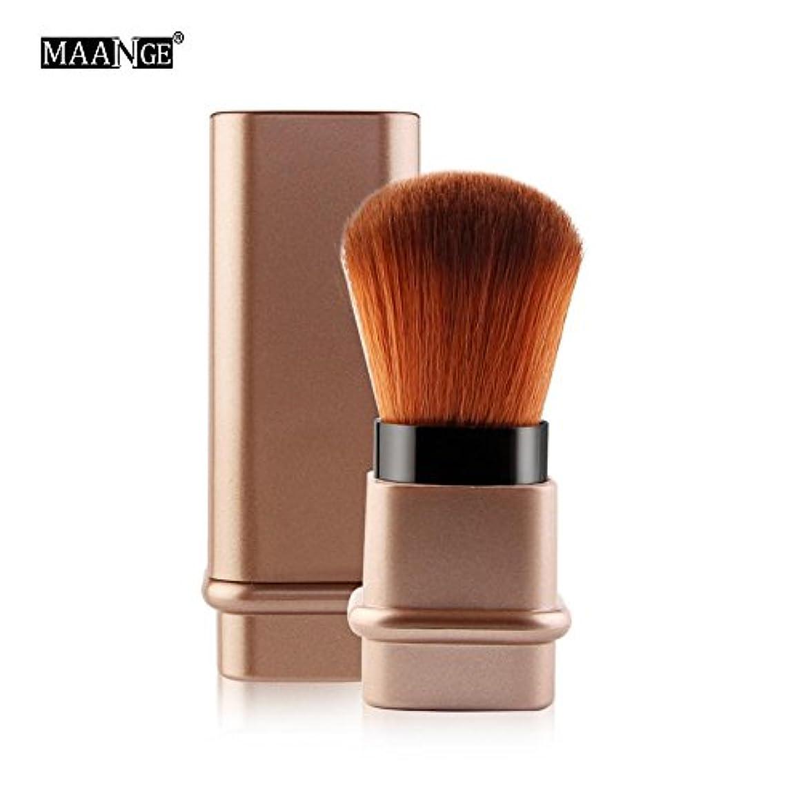 その他すなわち放つRuier-tong メイクアップブラシ スライド 化粧筆 化粧ブラシ 伸縮性のある チークブラシ フェイスブラシ パウダー&チークブラシ 携帯用 超柔らかい