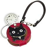 [フィールドワーク] 懐中時計 アナログ スズネコ バッグチャーム 時計 ルーペ 付き LW060-2 レディース ブラック