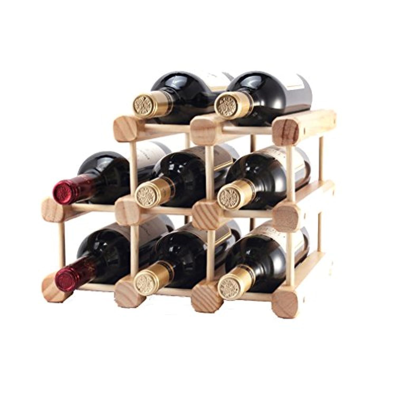 モジュラーワインラックDIYフリースタンドカウンタートップワインボトルホルダー8本用非常に丈夫な - 実用的でコンパクトな(サイズ:32 * 26 * 28センチメートル)