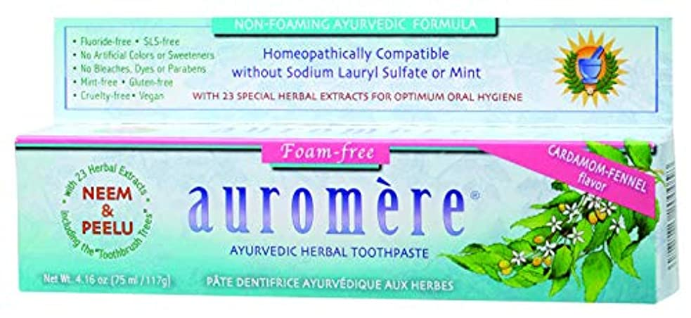 複雑なシングル休憩するオーロメア ハーバル歯磨き バルサラ ノンフォーミング