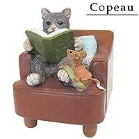 ネコとネズミのかわいいオブジェです♪ Copeau(コポー) ねずみの爪磨き 71773 〈簡易梱包