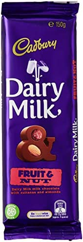 Cadbury Dairy Milk Chocolate Fruit and Nut Block 12 Pack, 12 x 150g