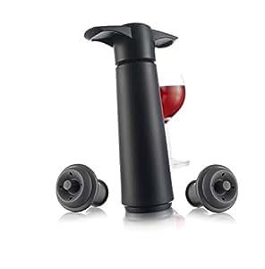 vacuvin ワイン保存器具(ストッパー2個付き) V-20 ブラック