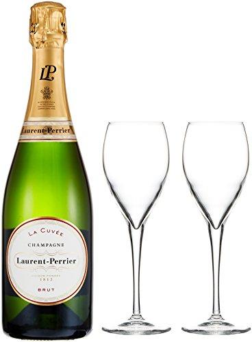 【英国王室御用達のシャンパン】 ローラン・ペリエ ラ キュベ 非売品シャンパングラス付 [ スパークリング 辛口 フランス 750ml ] [ギフトBox入り]