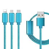 マイクロ8ピンタイプ-Cの場合1 USB充電ケーブルで1.2M 3