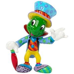 Enesco Disney by Britto Jiminy Cricket 3-Inch Character Figurine, Mini/ロメロブリット/ディズニー/フィギュア/ピノキオ/ジミニークリケット/並行輸入品