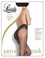 [Levante(レバンテ)]brasil20 ブラジル20 ハイカットビキニ風ジャガードパンティストッキング