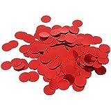 KESOTO 約10g 紙吹雪 丸い キラキラ 雰囲気作り 多色選べ  - 赤