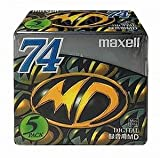 maxell 5PACK Blank MD 74Min