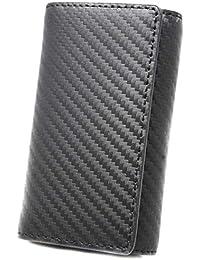 [BlissLeather] 【一流のイタリア製 スペイン製 カーボンレザー使用】高級 本革 キーケース 6連 多機能 キーリング スマートキー ボックス付き 10055