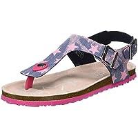 TOM TAILOR Girls' 8072219 Flip Flops, Multicolour (Navy-Rose 00298), 9.5 UK