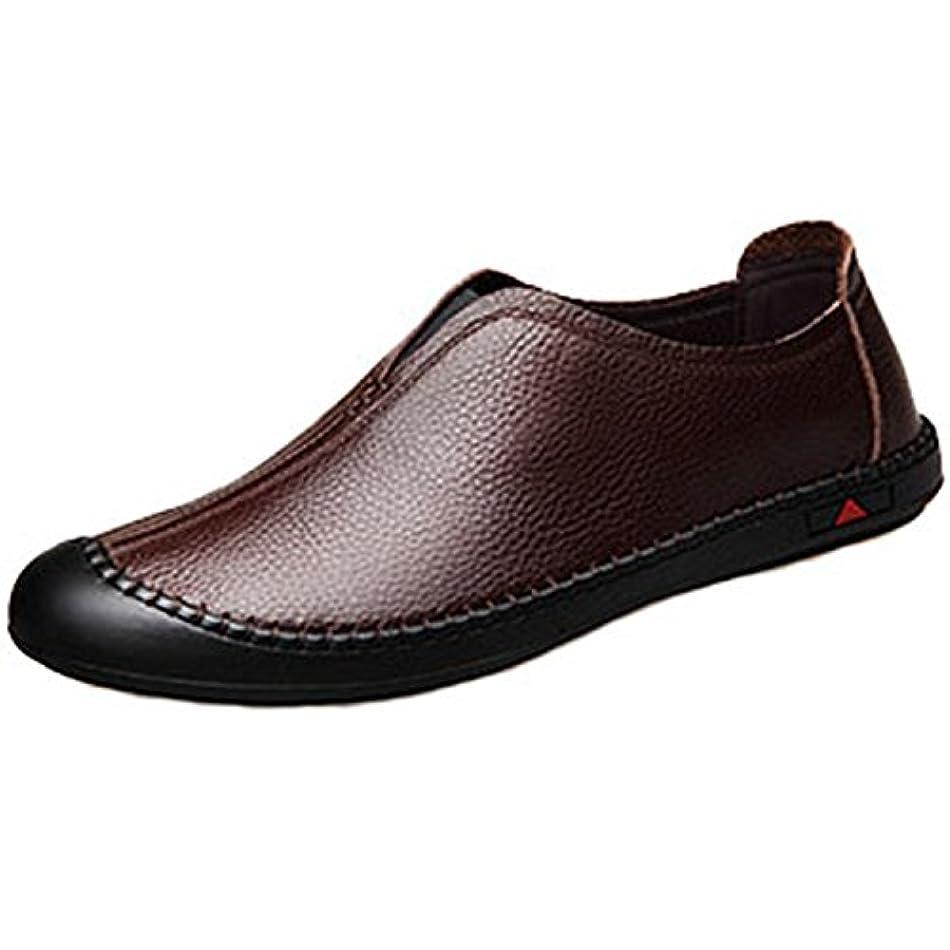 プログラムスタック作る[ロムリゲン] Romlegen ビジネスシューズ 革靴 通勤 ローファー スリッポン 紳士靴 履きやすい 通気性 夏 蒸れない