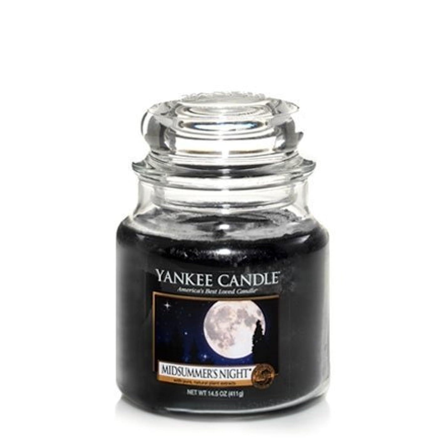 岩脅威フォークYankee Candle Midsummer's Night Medium Jar Candle, Fresh Scent by Yankee Candle [並行輸入品]