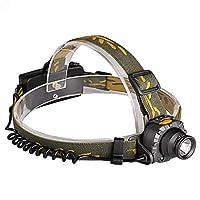 QP 充電式LEDヘッドトーチヘッドランプヘッドライトスーパーブライト防水軽量ランニングに最適釣りキャンプハイキングキッズ