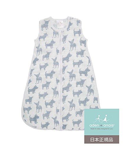 aden + anais (エイデンアンドアネイ) 【日本正規品】 クラシック スリーピング バッグ (スリーパー) waverly-pup sleeping bag (M) 8195