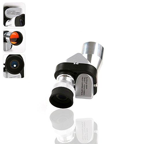 szyrc-miniポケット8× 20シルバーメタルMonocular望遠鏡接眼レンズ、科学bird-watchingのWilderness Expedition、旅行、アウトドアスポーツ機器、時計ライブGame